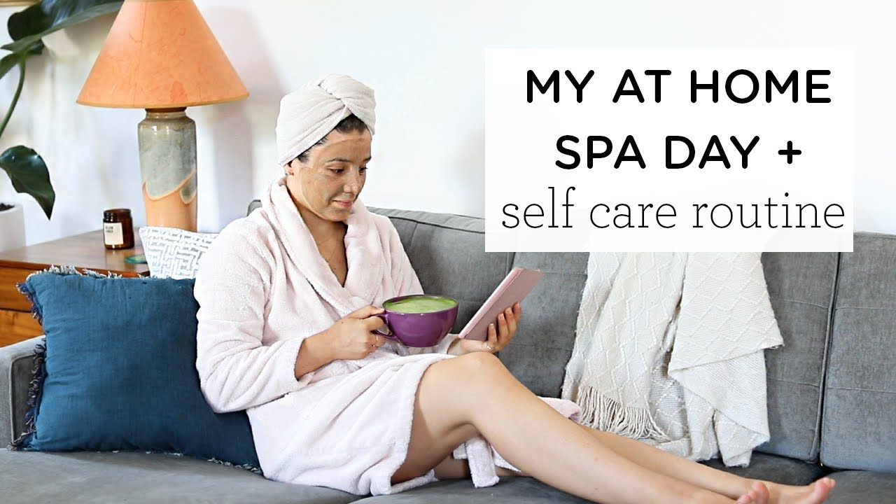 AT HOME SPA DAY ‣‣ weekend morning routine