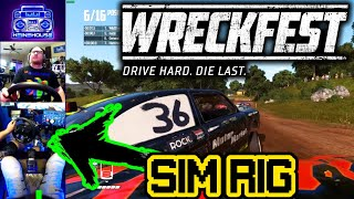 [PC] Wreckfest FIRST TIME playing in the SIM RIG 5/16/2020