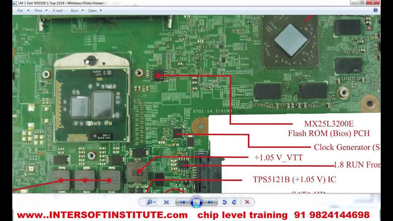 Laptop Chip Level Repair Training Of Dell N5010 Power