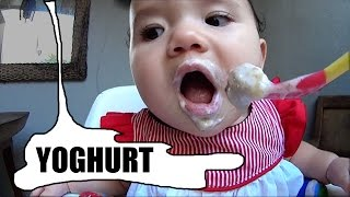 Baby Zee Tries Yogurt