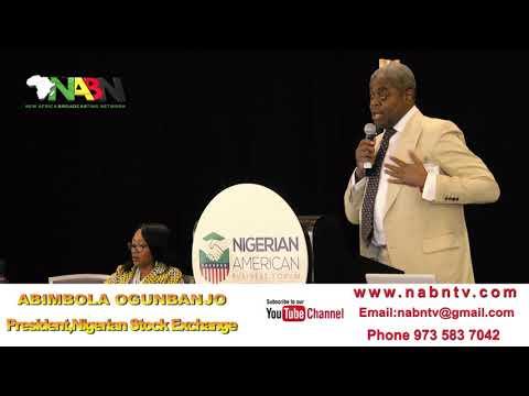 ABIMBOLA OGUNBANJO NIGERIAN STOCK EXCHANGE PRESIDENT AT NABF