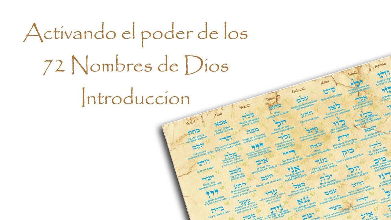 Activando el poder de los 72 Nombres de Dios Introducción
