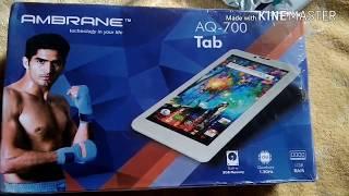 AMBRANE AQ 700 3G DUAL SIM TABLET REVIEW & UNBOXING SHOPPING TO SHOPCLUES