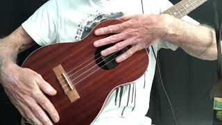 Sketch for Summer (The Durutti Column) cover on bass, baritone and tenor ukuleles
