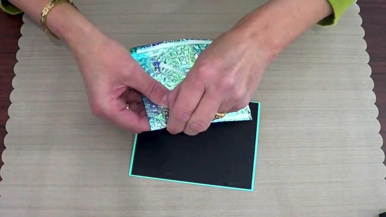 Elizabeth Craft Designs 5 Minute Card Shimmer Sheetz Youtube