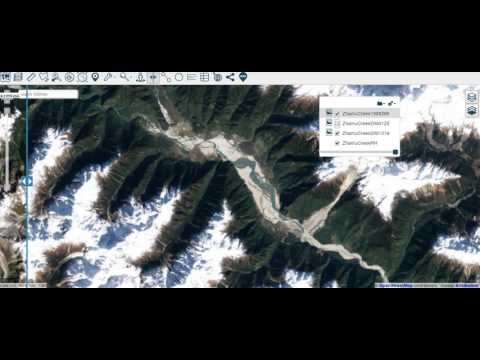 How to enable the layer swipe using Azimap GIS mapping software