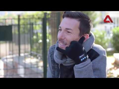Έξυπνα Γάντια με οθόνη Αφής και Ακουστικά Bluetooth συνδεδεμένα με Κινητό  Τηλέφωνο 0420be48c75