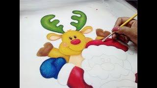 Fabric Painting Tutorial / Pintura En Tela Navidad
