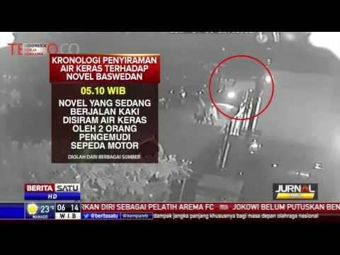 Rekaman CCTV Penyiraman Air Keras terhadap Novel Baswedan