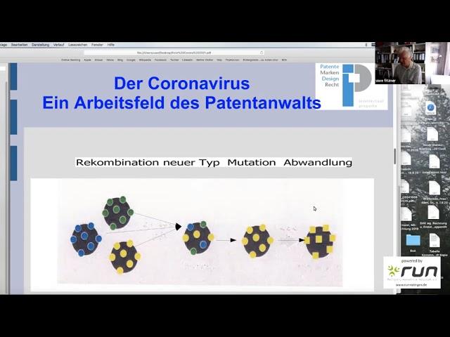 run präsentiert: Prof. Dr. Dr. Uwe Fitzner - Corona als Geschäftsfeld eines Patentanwalts
