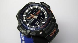 casio sgw 450h 2bcf analog digital display black watch