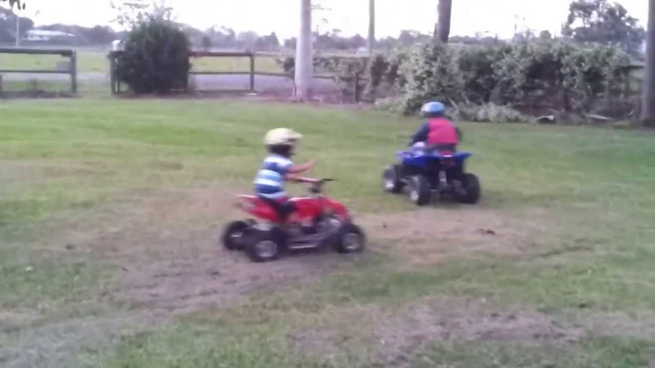 Kids Electric Atv Quad Bikes Youtube