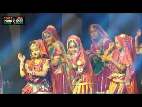 "Folk Dance (Rajathani ""Ghoomer"") by students of Euro International School"