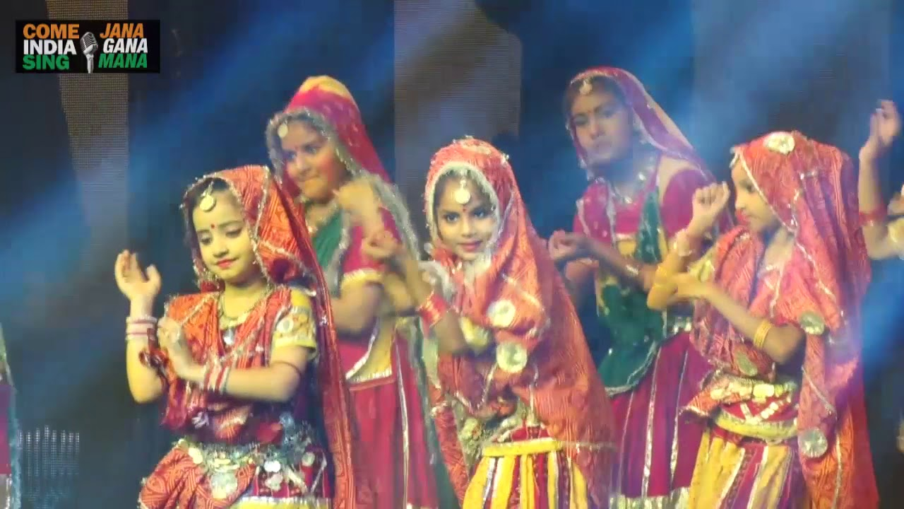 "100cfb176 Folk Dance (Rajathani ""Ghoomer"") by students of Euro International School"