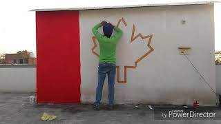 [PAINT] How to draw the Canadian flag on wall🇨🇦