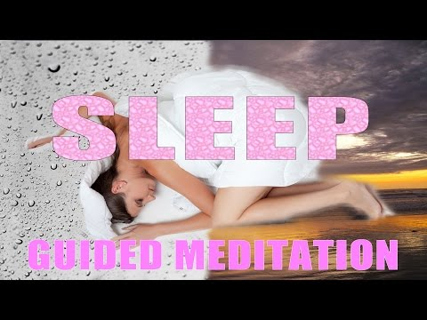 Guided meditation for deep sleep | Guided talkdown meditation ~ Rain and ocean waves ( No music )