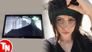 Streamer quebra Monitor 4K novinho, Hannah Mayers deleta todas redes sociais
