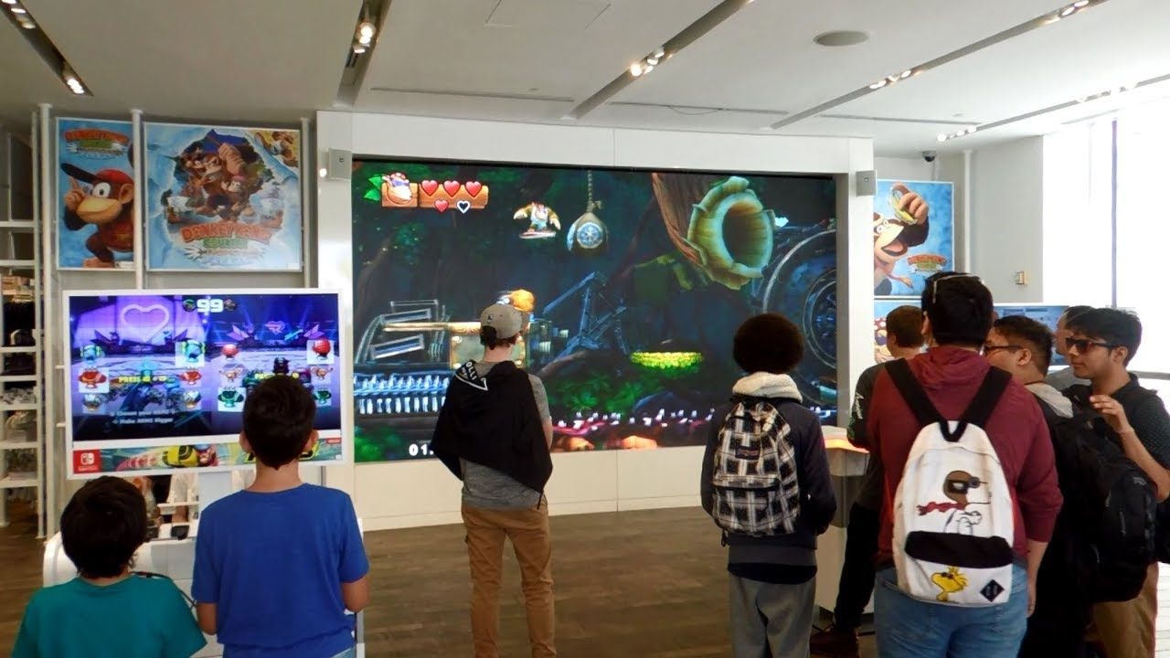 Donkey Kong Country: Tropical Freeze Launch Day at Nintendo NY