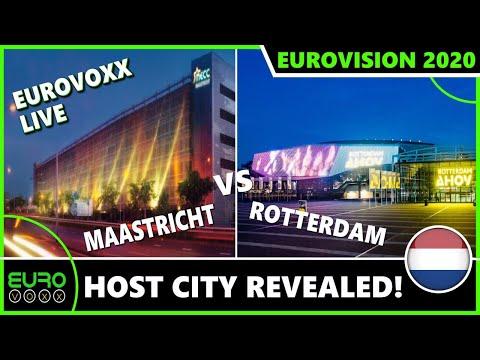 EUROVISION 2020 HOST CITY: MAASTRICHT VS ROTTERDAM WINNER REVEALED LIVE REACTION | EUROVOXX LIVE