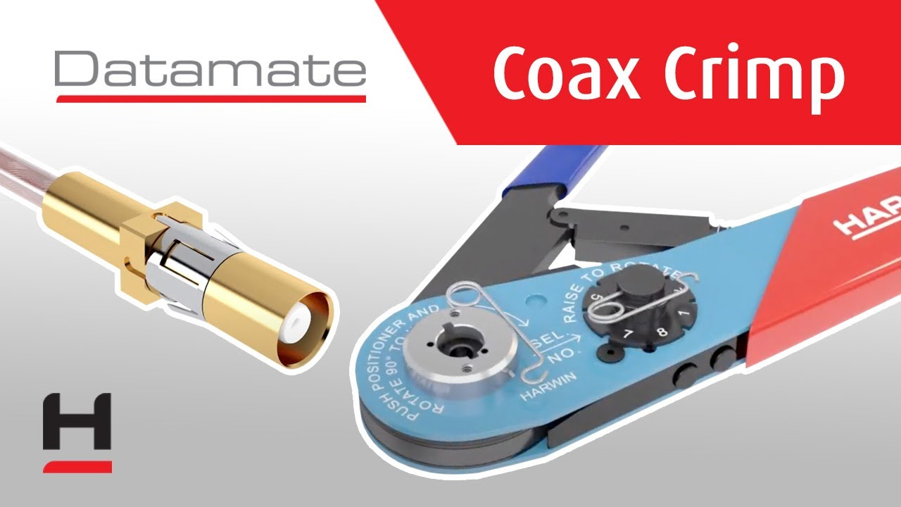 Youtube video for Datamate Coax Crimp Contact – Assembly Instructions