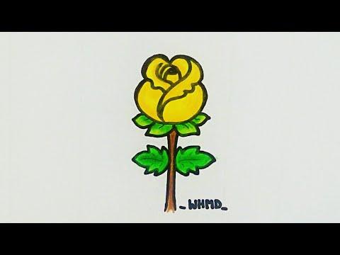 วาดรูปดอกกุหลาบตูมสวยๆง่ายๆ How to draw an easy rose