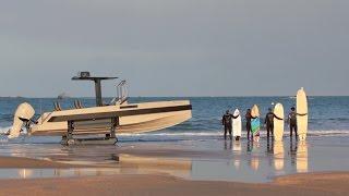 Iguana Yachts Expedition amphibious boat life style