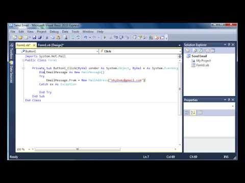[VB.Net] How to Send an Email in Visual Basic 2010