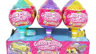 Zuru Oosh Cotton Candy Cuties Full Case Unboxing Toy Review Scented Fluffy Stretchy Slime Squishies