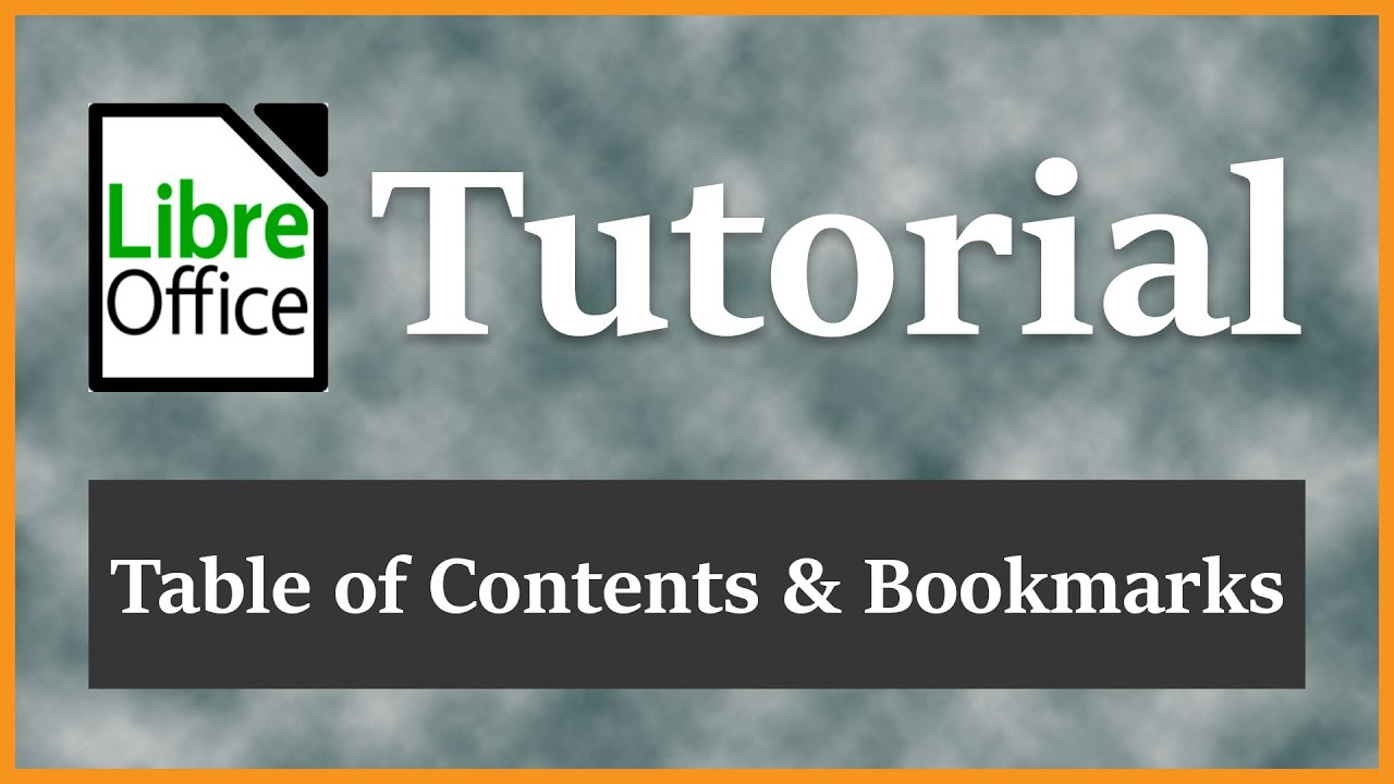 Table of Contents TOC | Heading and Custom Bookmarks | LibreOffice Writer