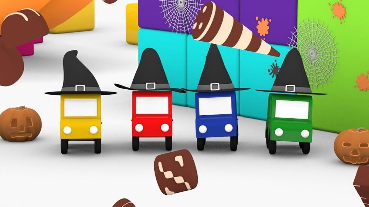 Cartoni animati per bambini le macchinine colorate e la