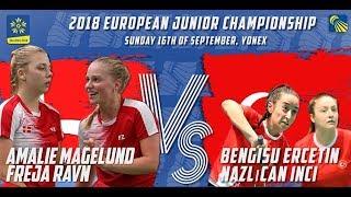 Magelund / Ravn vs Ercetin / Inci (WD, Final) - European Jnr. C'ships 2018