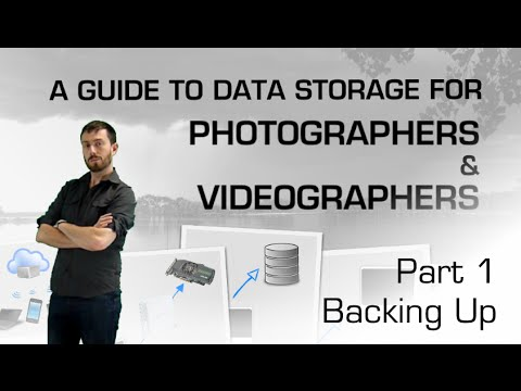 Best Data Practice for Photographers and Videographers Part 1 - Backing up
