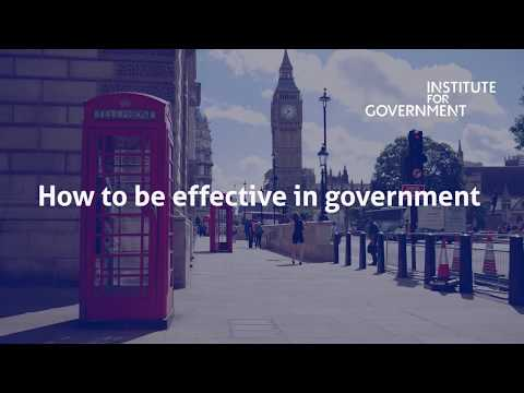 #MinistersReflect - How to be effective in government