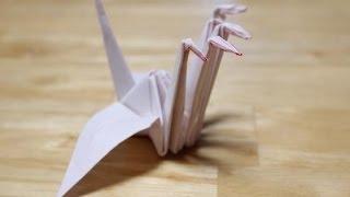 五首鶴の折り方(解説字幕つき)five necked paper crane ( origami ) thumbnail