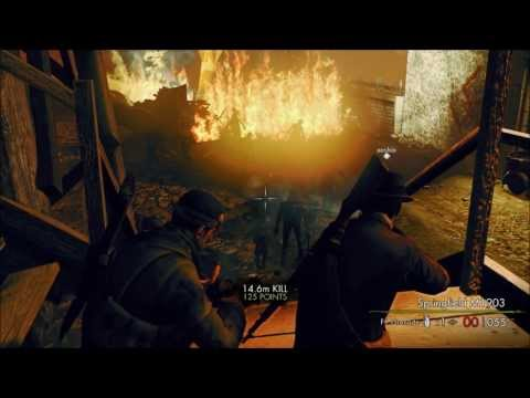 Sniper Elite: Nazi Zombie Army 2 - 4 player co-op Part 1
