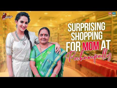 Surprising Shopping For MOM at Pochampally || Its Himaja || Tamada Media