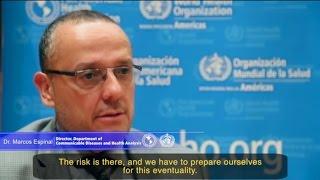 """Ébola: Preparación y respuesta en las Américas"""". Dr. Marcos Espinal, OPS/OMS"""