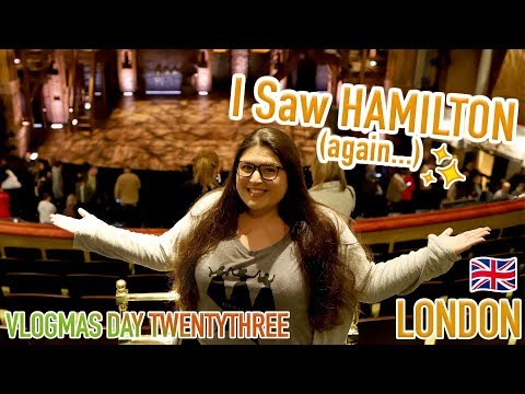 Seeing A NEW Alexander Hamilton! 🌟 (Hamilton West End Review) ✨ VLOGMAS