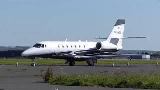 Cessna 680 Citation Sovereign Jet at Solent Airport Daedalus - 7th September 2018