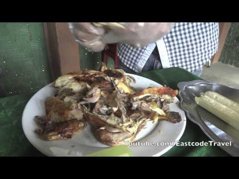 Dac San Tay Nguyen Rượu cần   gà nướng    com lam Gia Lai  Vietnam