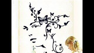Интерьерная наклейка на стену Лицо девушки