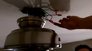 How to install a ceiling fan with a light fixture