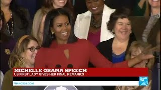 US - First lady Michelle Obama gives her final speech