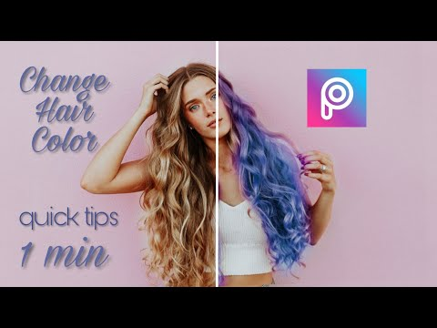 How To Get Color Hair ||  Picsart Change Hair Color || Quick Tips || Picsart Quick Tutorial
