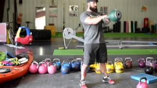 Double Arm Fitness Kettlebell Swing