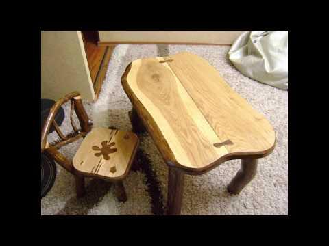 Изделия из дерева. Ручная работа.Детский столик из  массива дуба своими руками