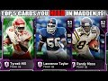 TOP 5 MOST NEEDED CARDS IN MADDEN 19 ULTIMATE TEAM! YOU NEED THESE CARDS!   MADDEN 19 ULTIMATE TEAM