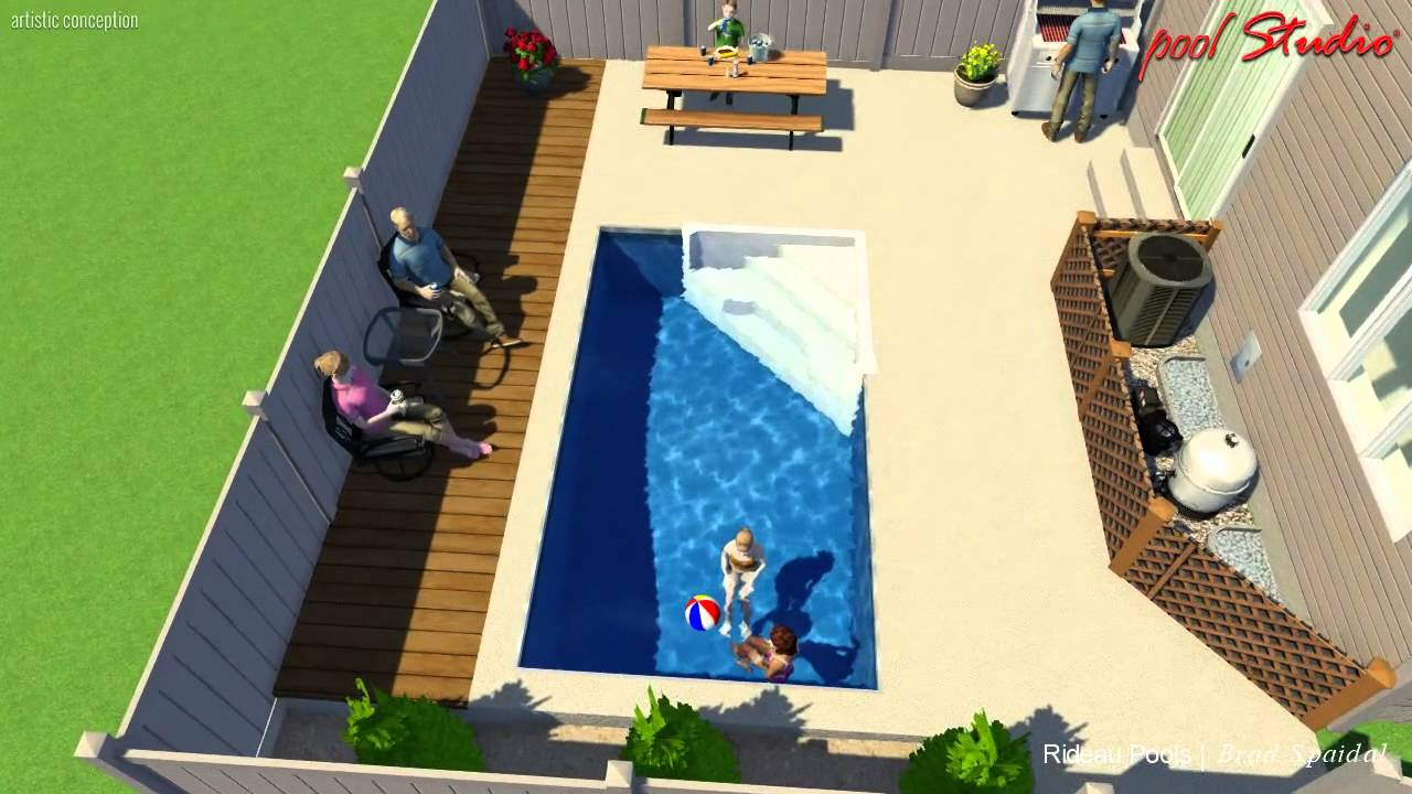 Rectangular Pool Designs custom small rectangle pool designrideau pools ottawa - youtube