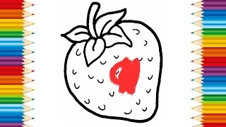 Learning How to Draw Fruits and Coloring pages Fruit for KIDS - Videos for children