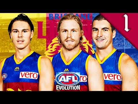 REBUILDING BRISBANE LIONS! AFL Evolution: Brisbane Lions Coach Career Mode #1